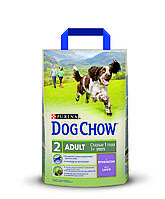 [ Корм для собак Dog Chow Adult з ягням 2,5 кг ] Повнораціонний корм для дорослих собак віком від 1 до 5 років
