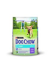 [ Корм для цуценят Dog Chow Puppy з ягням 14 кг ] Сухий корм Дог Чау  віком до 1 року