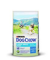 [ Корм для цуценят Dog Chow Puppy Large Breed з індичкою 14 кг ] Сухий корм Дог Чау для цуценят великих порід