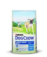 [ Корм для собак Dog Chow Adult з ягням 14 кг ] Повнораціонний корм для дорослих собак великих порід
