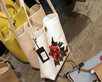Женская сумка белая с розой (сум)