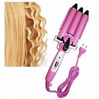 Профессиональная тройная плойка для волос JJ-928 Professional Hairdressing