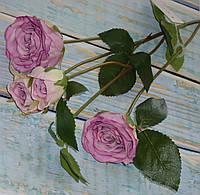 Ветка роз премиум класса пастельный фиолет