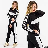 Спортивный костюм 13715, черного цвета