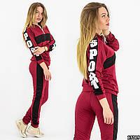Спортивный костюм 13715, бордового цвета