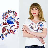 Вышивка на футболках - Петриковская Роспись