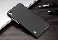 Матовый силиконовый чехол Huawei Ascend P7 Black