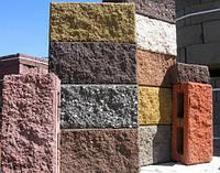 Заборний блок колотий 390*190*120мм