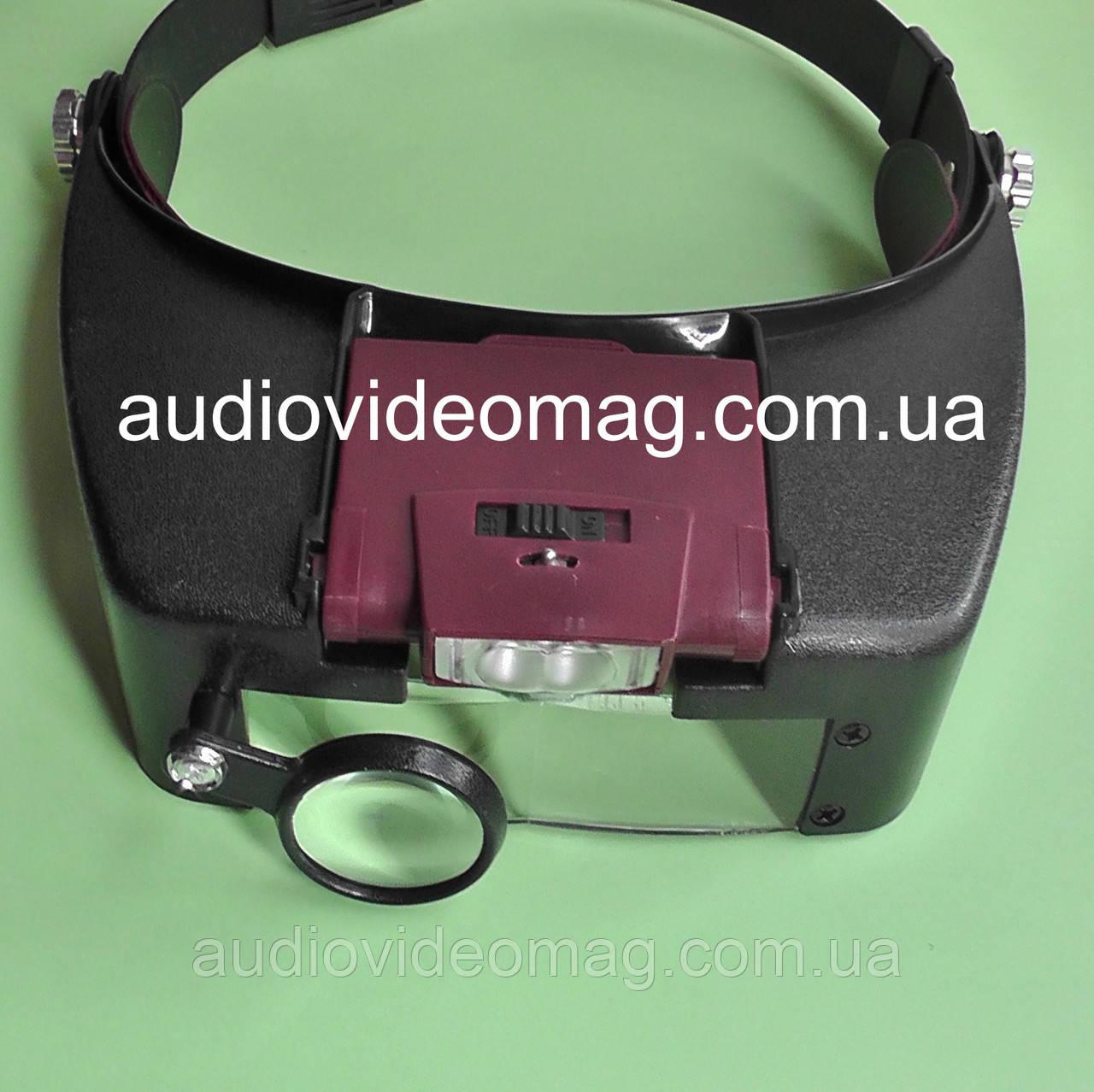 Бинокулярные очки (1.5х-3.0х-8.5х-10.0х кратное увеличение) с регулируемой подсветкой