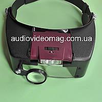 Бинокулярная лупа (очки) налобная с регулируемой подсветкой