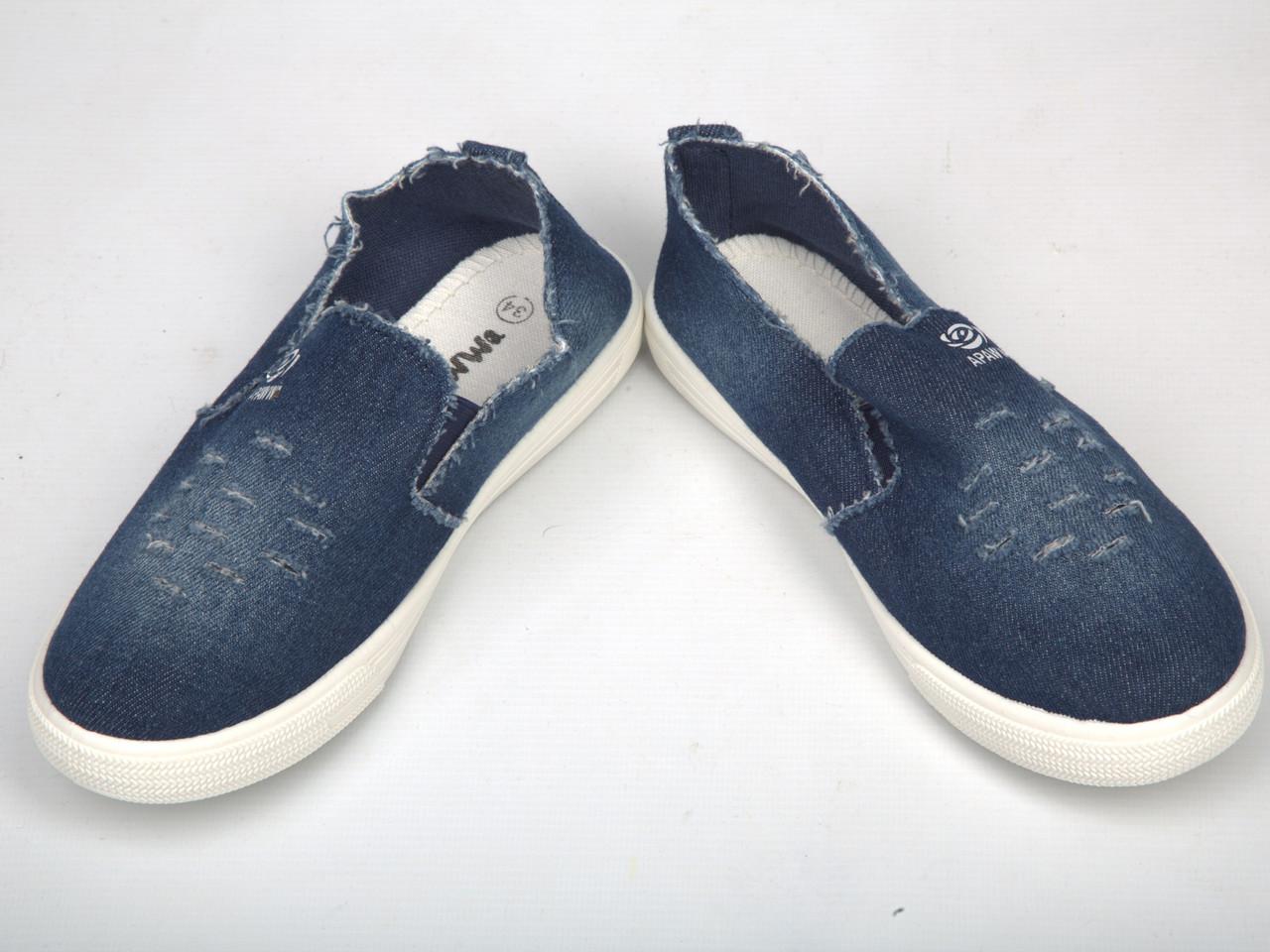 Детские мокасины джинсовые (Код: Х-02)