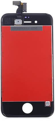 Дисплей (экран) Apple iPhone 4 с тачскрином и рамкой в сборе, black (черный), дисплейный модуль, фото 2