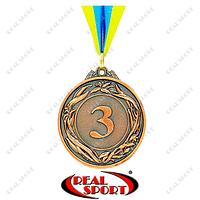 Спортивная медаль с лентой Glory C-4327 3 место