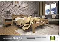 """Деревянная кровать """"Корона-2"""""""