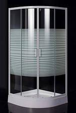 TISZA (AMUR) душова кабіна кутова EGER 90*90*200 на дрібному піддоні 15 см, профіль білий