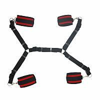 LUX Bed bondage ♠ Фиксаторы запястий и лодыжек