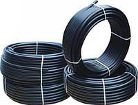 Труба пнд  20*10 черная техническая  синей полосой