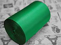Лента атласная зеленая (ширина 10см, намотка 20м)