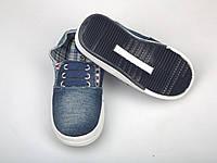 Детские мокасины (Код: М-7 синий джинс)