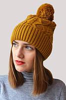 Стильная зимняя шапка с широким отворотом