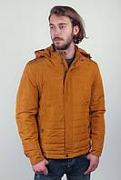 Куртка горчичная мужская №245M004 (Горчичный)