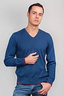 Свитер мужской, пуловер трикотажный №269C007 (Синий) Размер L