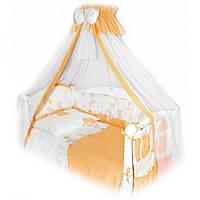 TWINS постельный к-т (Comfort) С-021 (8 эл) Горошки оранж.