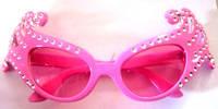 Очки розовые гламурные