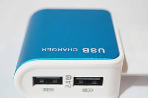 Зарядное устройство USB Charger для электроники 2 в 1