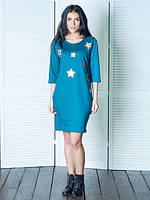 Модное платье прямого кроя