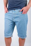 Шорты джинсовые до колена №166KF038 (Голубой)