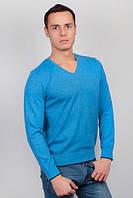 Свитер мужской, пуловер трикотажный №269C007 (Голубой) Размер М