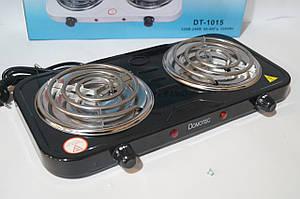 Електрична плита Domotec 2 спіральна DT-1015 2000w