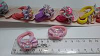 Резинки детские для волос с бантиком и коронкой