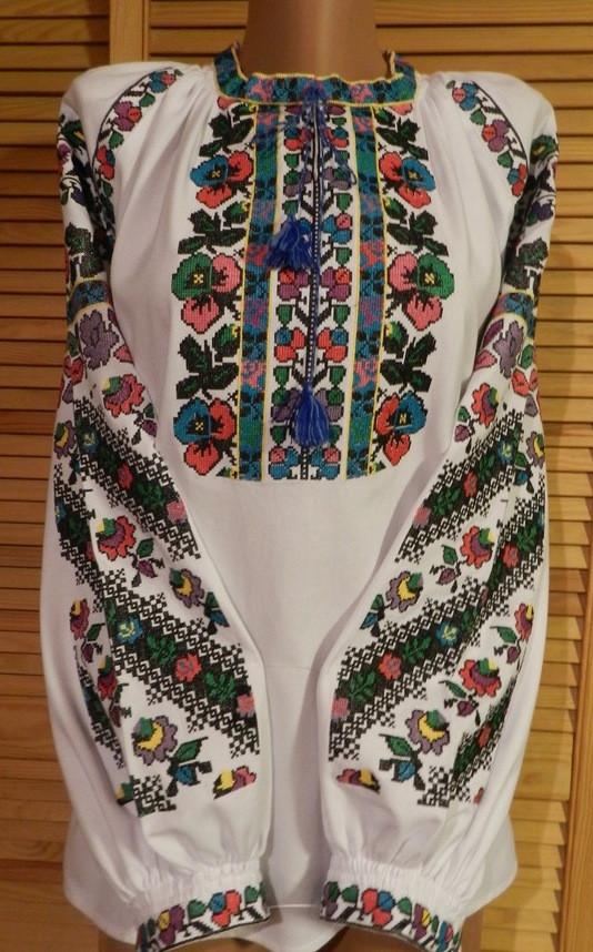 Борщівська вишиванка жіноча домоткане полотно 50- 52 розмір  продажа ... 47eff137b10b2