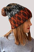 Зимняя шапка унисекс с орнаметом
