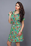 Летнее платье - рубашка. Размер :46,48,50,52. Код:277261761