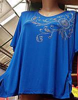 Женская футболка увеличенного размера