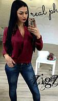 Женская яркая блузка без пуговиц