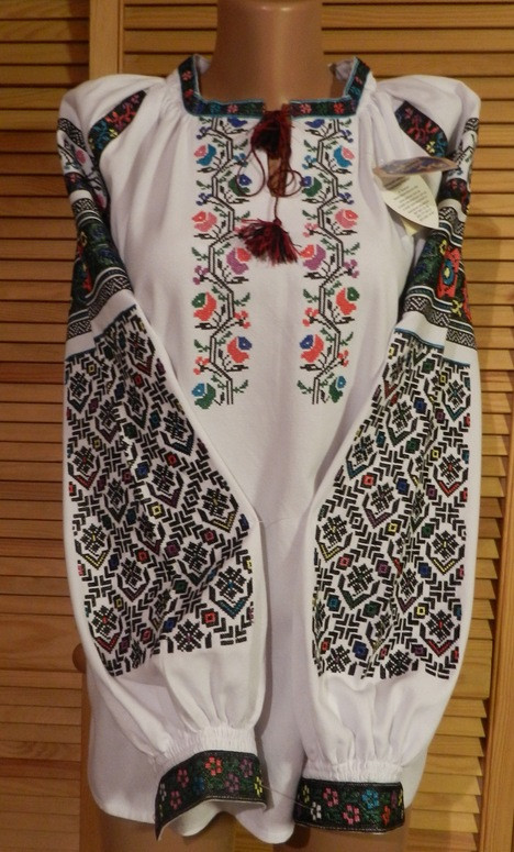 Борщівська вишиванка жіноча домоткане полотно 54 розмір  продажа ... d89d3a5e7c96a