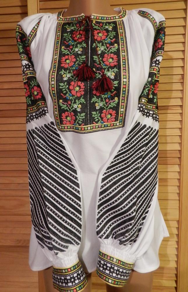 Сорочка вишита жіноча Борщівська на домотканому полотні 54 розмір -  Скарбниця Карпат- інтернет магазин виробів a715f679d3591