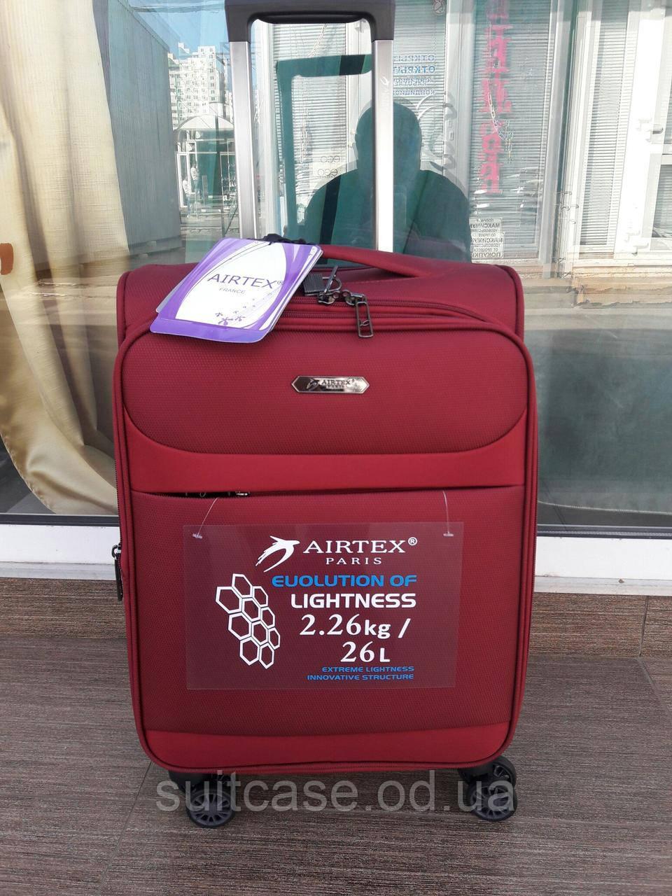 Ультра легкий тканевый чемодан под ручную кладь на 4-х кол. Airtex 822, 30f2730658d