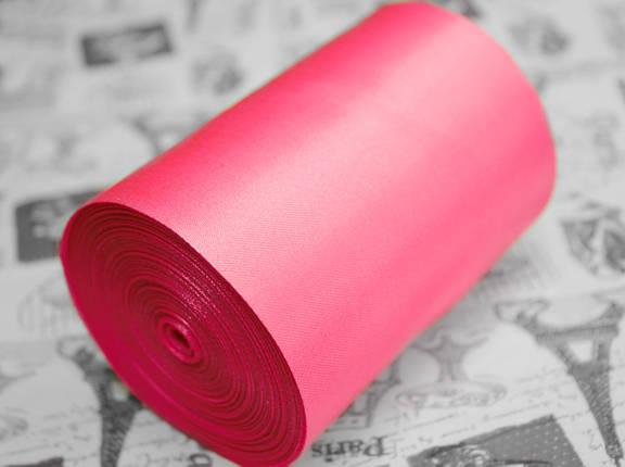Лента атласная ярко- розовая (ширина 10см, намотка 20м), фото 2
