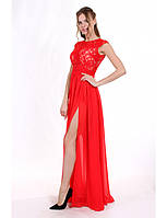 Вечернее платье с легкой шифоновой юбкой