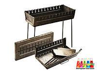 Мангал- чемодан складной (6,8,10,12 шампуров) 12 шампуров