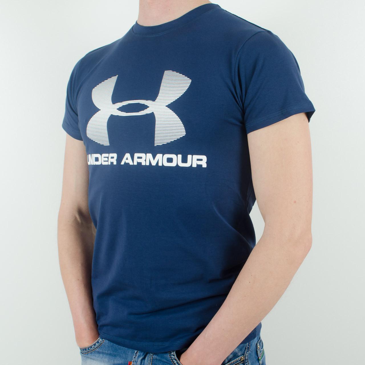 Футболка с логотипом, Under Armour (т.синий)