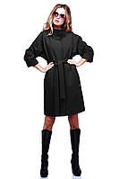 Классическое женское кашемировое пальто черного цвета 46