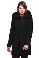 Классическое женское кашемировое пальто черного цвета 50