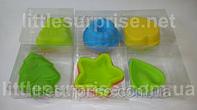 Набор силиконовых форм для выпечки 6 шт/набор