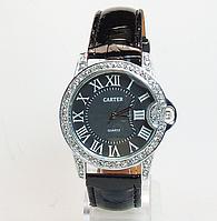 Часы наручные  на черном ремешке CARTER (копия)